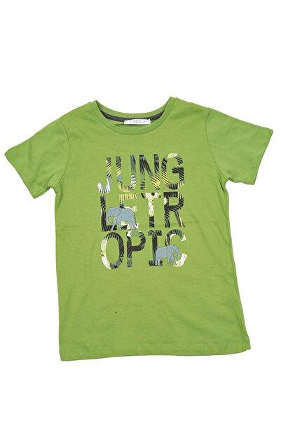 Zeyland Erkek Çocuk Yeşil Tropical Jungle T-shirt (5-14yaş)