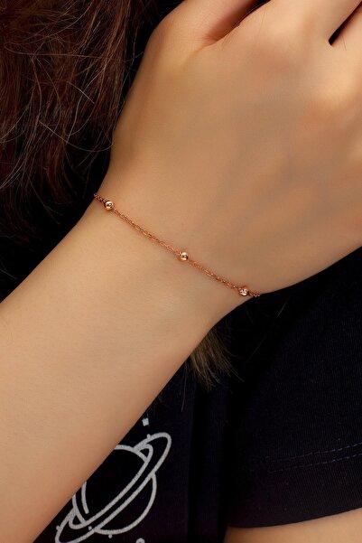 BY BARUN SİLVER Kadın Rose Toplu Gümüş Zincir Bileklik