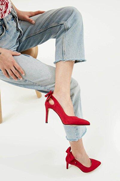 Mio Gusto Eliza Kırmızı Fiyonklu Topuklu Ayakkabı