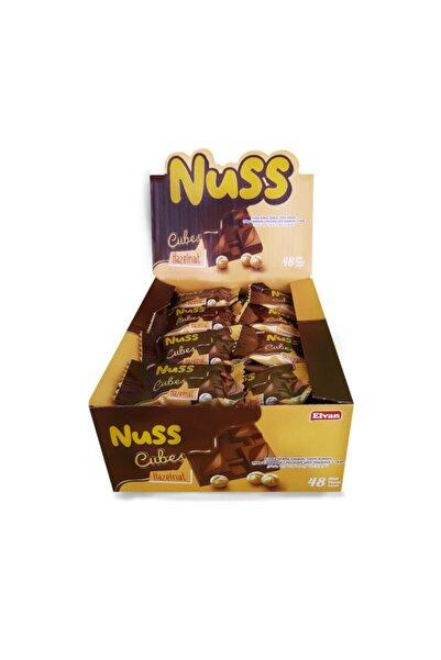 Elvan Nuss Cubes Fındıklı 10gr  48 Adet (1 Kutu)
