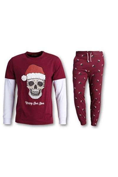 Bad Bear Santa Skull Erkek Pijama Takımı