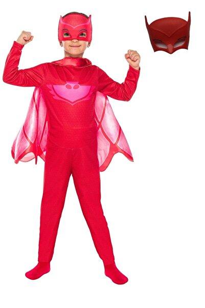 TUYTUK Pijamaskeliler Baykuş Kız Kostüm (extra Maske Hediyeli)