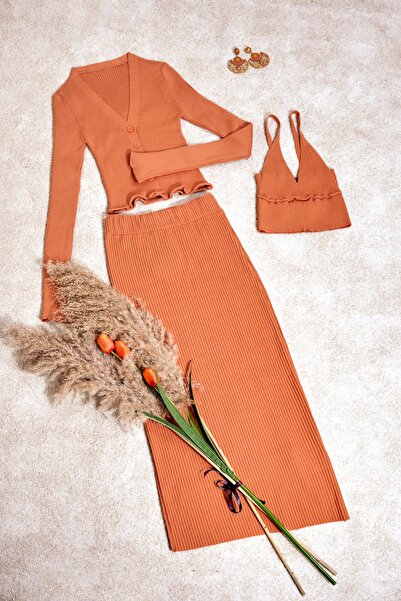 La Passiones Kadın Craft Renk Triko 3lu Takim Ss21