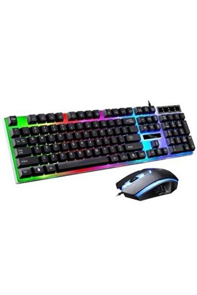 MASTEK Işıklı Klavye,oyuncu Klavye Mouse Set 7 Farklı Led Renkli Klavye