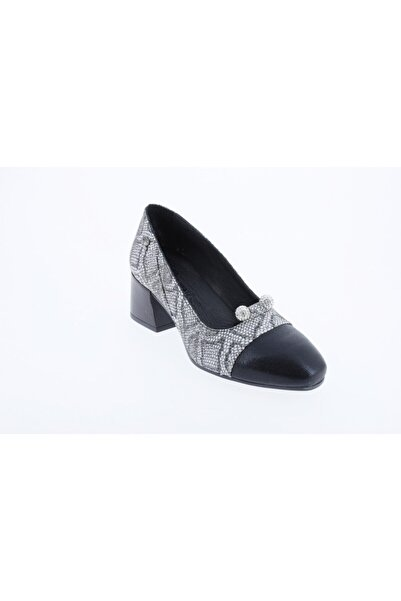 Venüs Kadın Siyah Topuklu Ayakkabı