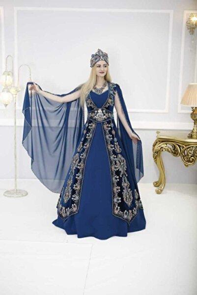 Ceyyiz Büyük Taşlı Nakışlı Bindallı Kına Elbisesi