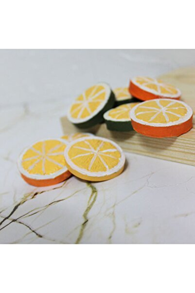 MUDİTA Mudi Handmade   Limon Buzdolabı Magneti 3'lü