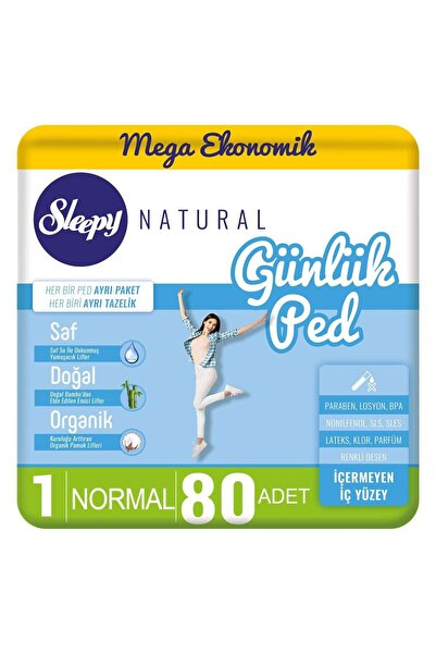 Sleepy Natural Günlük Ped Normal 80 Adet