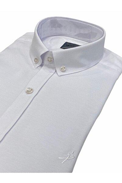 Sarar Interview Slim Fit Beyaz Gömlek