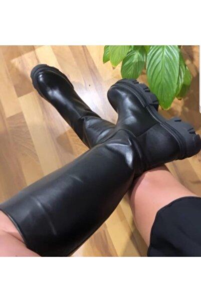 Voces (Siyah) Uzun Deri Çizme