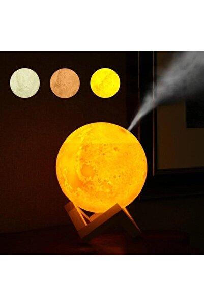Raicon 3 Renkli Ay Işığı Gece Lambası Ve Hava Oda Nemlendirici Buhar Makinesi Cihazı Ultrasonik Usb
