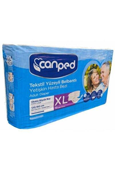 Canped Hasta Bezi Xl (bel Bantlı) 30 Adet Tekstil Yüzeyli
