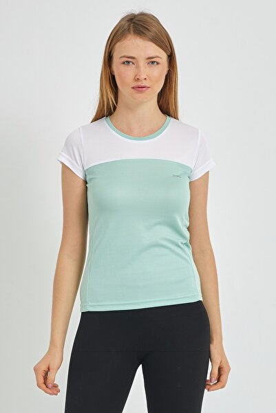 Slazenger Randers I Kadın T-shirt Yeşil St11tk002