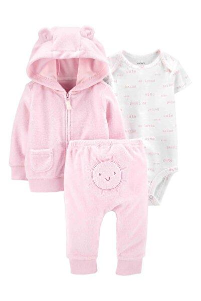 Carter's Carters Kız Bebek 3'lü Güneş Desenli Body Eşofman Altı Ceket Set