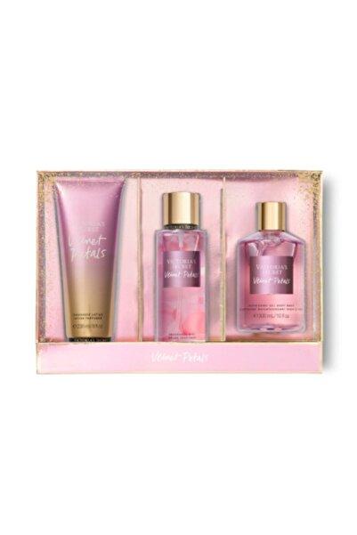 Victoria's Secret Velvet Petals Büyük Boy Sevgiler Gününe Özel Hediye Seti 3'lü
