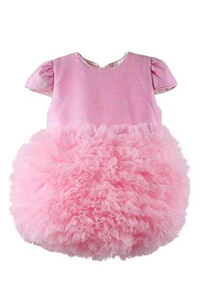 BEBEBEBEK Pembe Tütülü Bebek Prenses Elbise