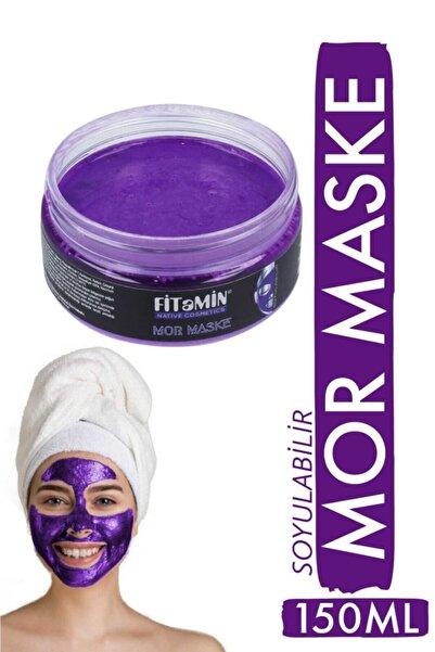 fitamin Soyulabilir Mor Maske Collagen Q10 Karamürver Kolajen Hyaluronik Asit Kaolin Yaban Mersini 150ml
