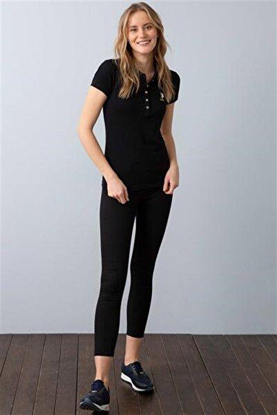 U.S. Polo Assn. Kadın Siyah T-shirt