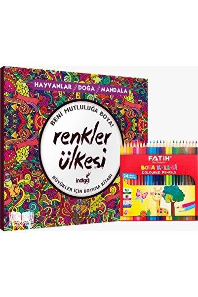 İndigo Kitap Renkler Ülkesi Büyükler Için Boyama Ve Kuru Boya -