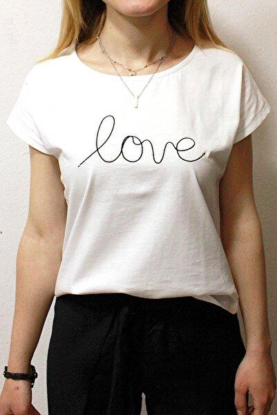 Cazador Kadın Beyaz Caz 4393 Bisiklet Yaka T-shirt