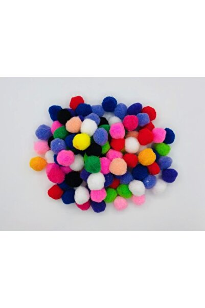 OzanTuhafiye Ponpon 3 cm 100 Adet Karışık Renk