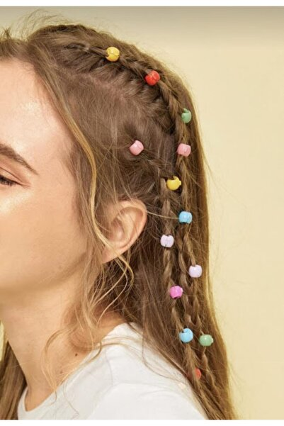 PETEK AKSESUAR 20 Adet Rainbow Renkli Saç Boncuğu