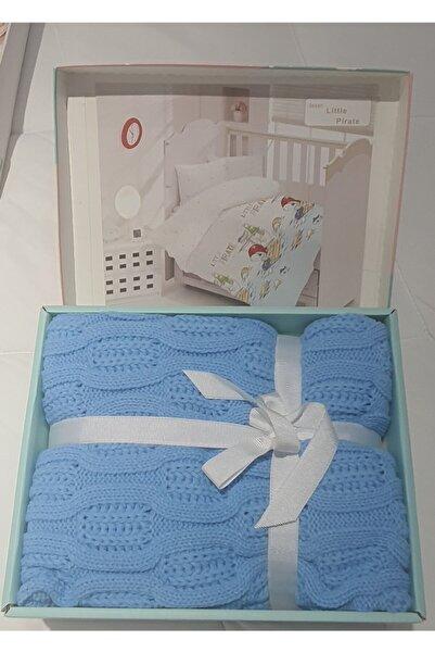 Altınbaşak Little Pirate Mavi Bebek Nevresimli Triko Battaniye Set