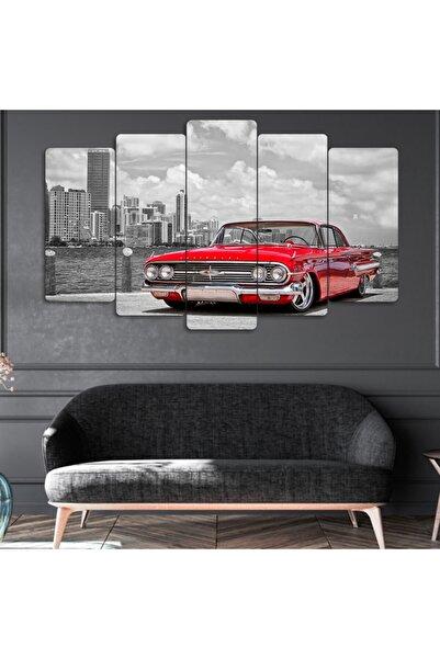 Evonya Klasik Araba - 5 Parçalı Dekoratif Tablo