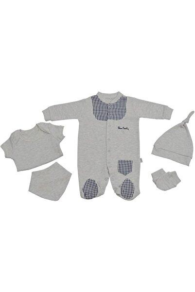 Pierre Cardin Baby Pierre Cardin Yenidoğan Bebek Hastane Çıkışı Seti Ekoseli Gri
