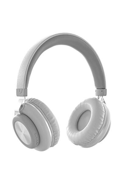 MF PRODUCT Acoustic 0125 Mikrofonlu Kulak Üstü Kablosuz Bluetooth Kulaklık Beyaz