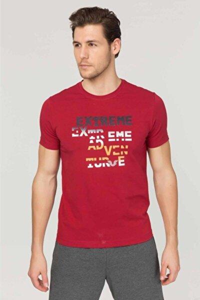 bilcee Bordo Pamuklu Erkek T-Shirt FS-1674