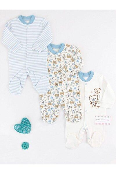 Necix's Mavi Erkek Bebek Sevimli Ayı 3'lü Tulum