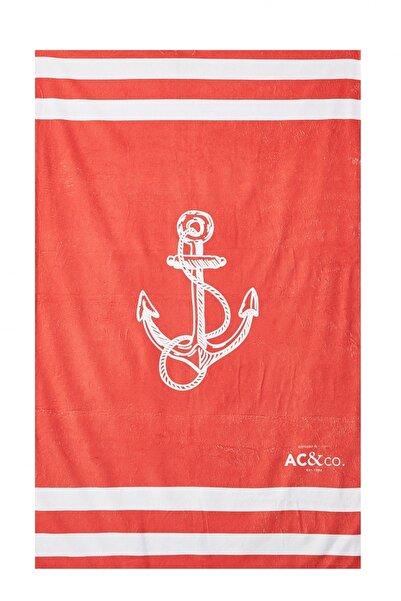 AC&Co / Altınyıldız Classics Erkek Kırmızı Kırmızı Plaj Havlusu