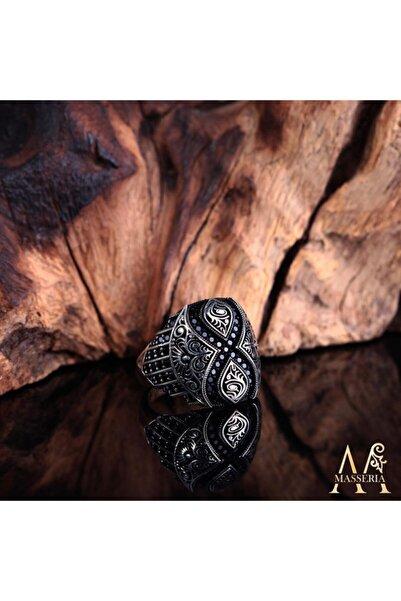 Masseria Italyan Tasarım Sonsuzluk Model Mikro Taşlı Gümüş Yüzük