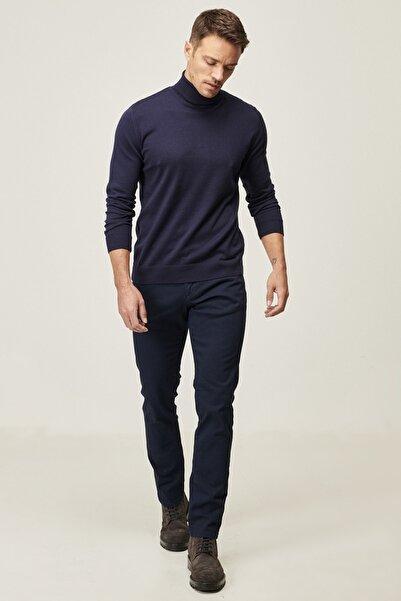 AC&Co / Altınyıldız Classics Erkek Lacivert Kanvas Slim Fit Dar Kesim 5 Cep Pantolon