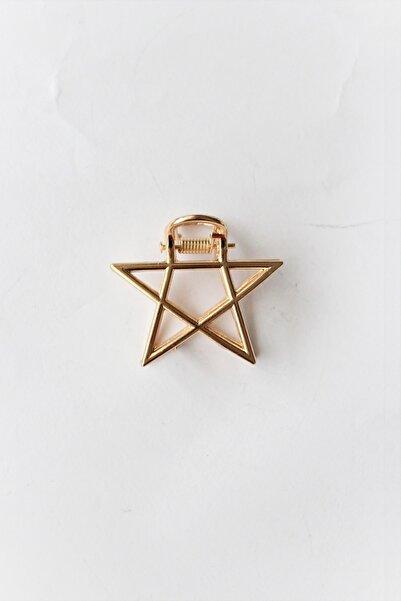 miyolin Yıldız Metal Gold Mandal Toka