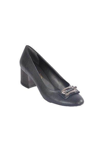 Maje 2124 Siyah-altın Kadın Topuklu Ayakkabı
