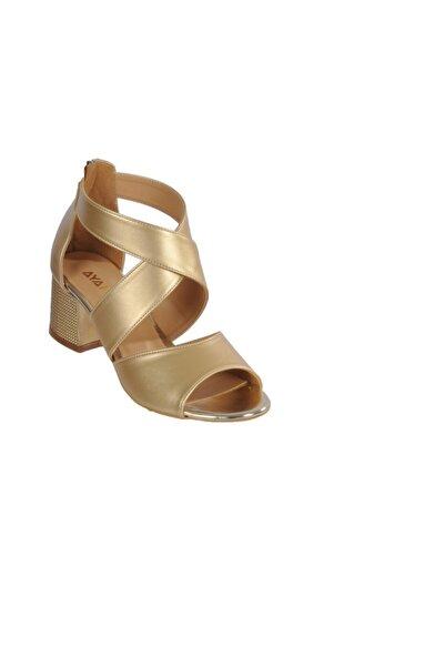 Maje 5045 Altın Kadın Topuklu Ayakkabı