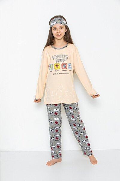 Tarık Kız Genç Çocuk Uygulama Baskılı Pijama Takımı