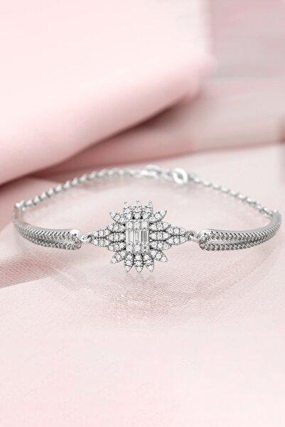 Else Silver Pırlanta Tasarımı Kelepçe Modeli Gümüş Bileklik