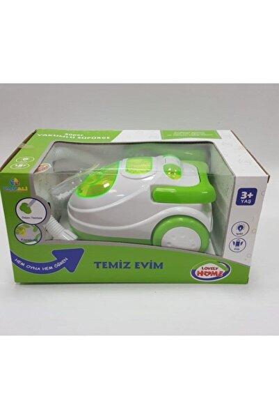 Can Ali Toys Büyük Boy Pilli Oyuncak Yeşil Elektrikli Süpürge 35cm