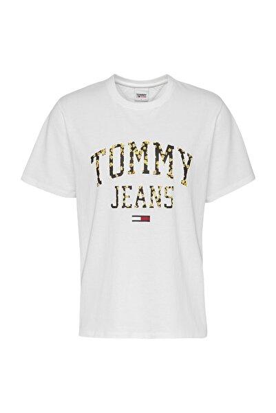 Tommy Hilfiger Kadın Tj Çiçek Logolu T-shirt