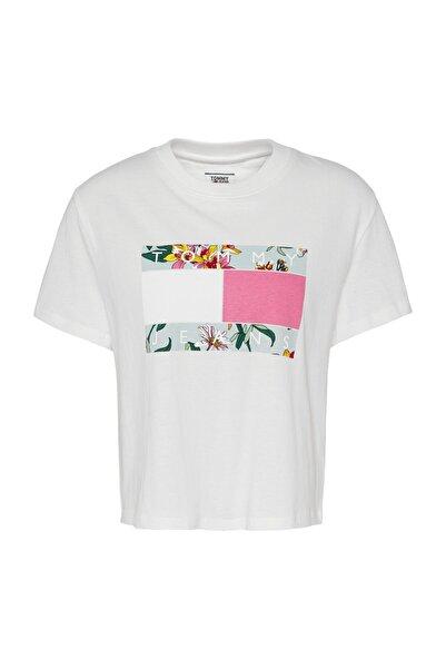 Tommy Hilfiger Tj Kadın Hawai Logolu T-shirt