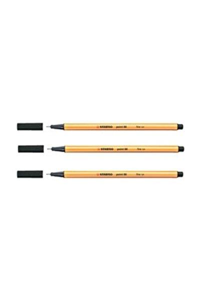 Stabilo Keçe Uçlu İnce Kalem 88 Point 0.4 mm Siyah 88/46