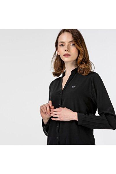 Lacoste Kadın Hakim Yaka Siyah Gömlek CF2107