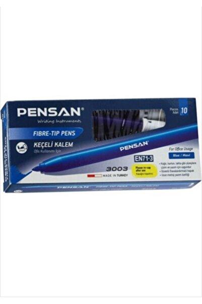Pensan Keçeli Kalem Ofis Tipi 3003 Mavi 10 Adet ( 1 Paket 10 Adet )