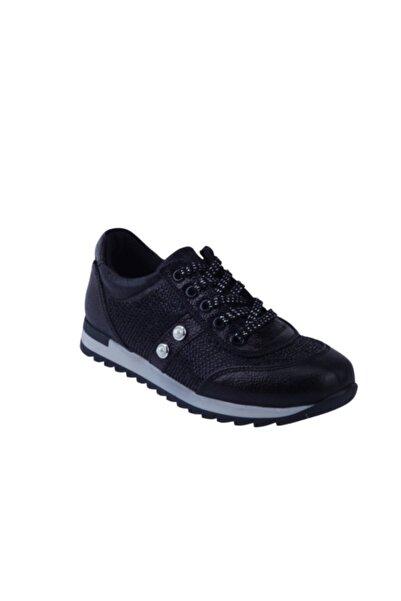 Toddler Kadın  Siyah Deri Ortopedik Ayakkabı 31-35 00412