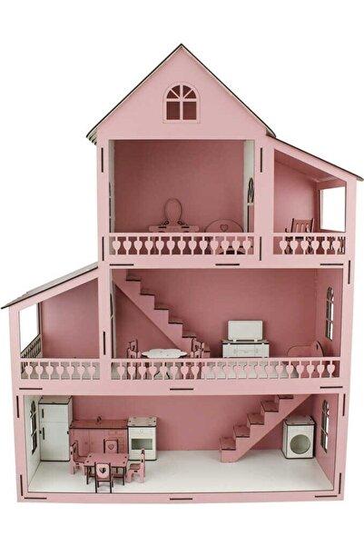 Berk Ahşap Pembe Barbie Ev 80 cm