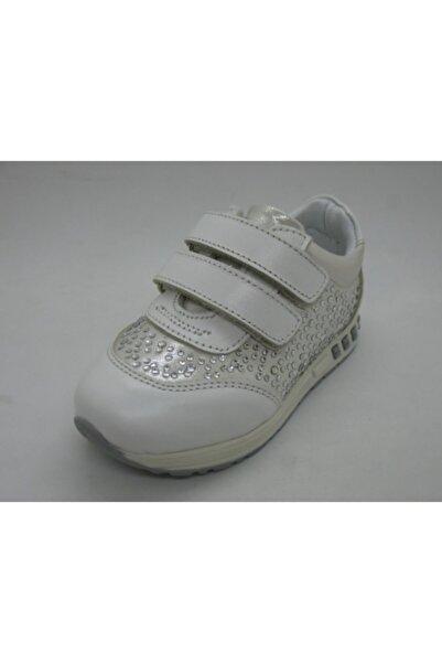 Toddler Kız Bebe Beyaz Deri Ortopedik  Ayakkabısı 21-25 0207