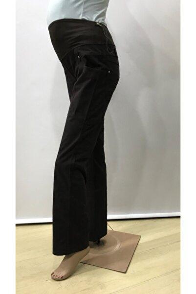HaiModa Kadın Hamile Bol Paça Pantolon Kahverengi